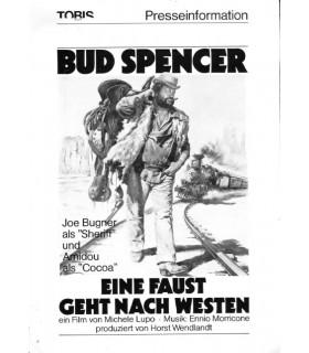 Eine Faust geht nach Westen (Bud Spencer) Presseheft + 5 Pressefotos