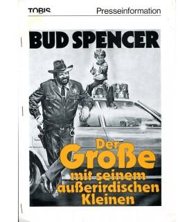 Der Grosse mit seinem ausserirdischen Kleinen (Bud Spencer) Presseheft + 3 Pressefotos